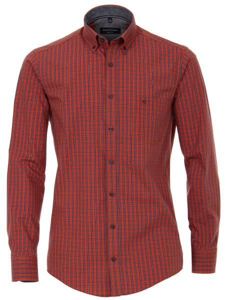 Freizeithemd, Extra langer Arm 72 cm, Casa Moda Casual Fit, Kariert Orange
