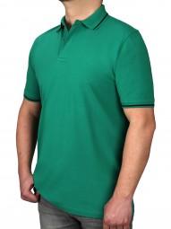 Poloshirt KITARO Grün--Rumpf und Kurzärmel in EXTRALANG