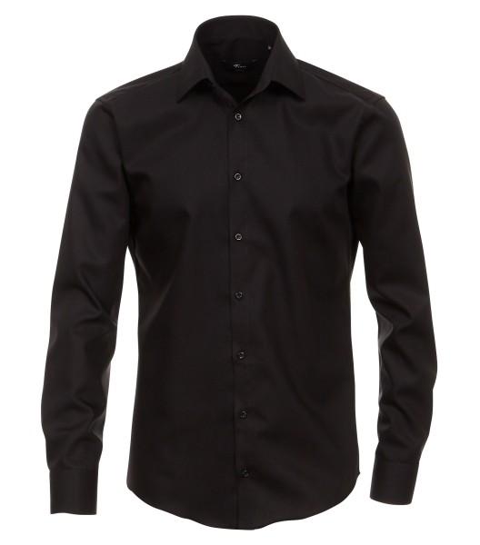 Hemden Extra langer Arm 72 cm, Venti Modern Fit, Schwarz