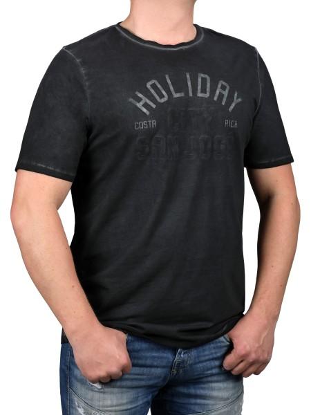 T-Shirt KITARO Anthrazit -- extra lang