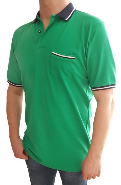Poloshirt KITARO Grün-in EXTRA LANG