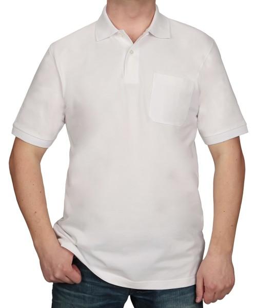 KITARO Poloshirt Weiß-EXTRALANG