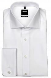 Hemd OLYMP Luxor modern fit mit Umschlagmanschetten Weiß Extra langer Arm 70cm