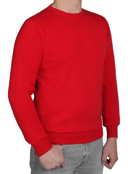 Extra langer Pullover Herren, K I T A R O-Rundhals, in Rot