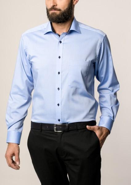 Hemd E T E R N A Comfort Fit modisch Blau Extra langer Arm 68 cm