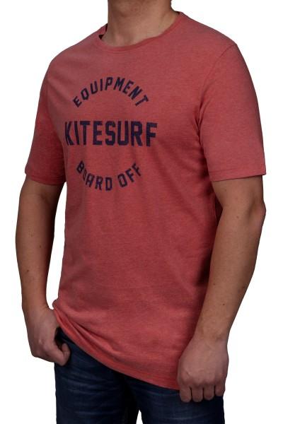 T-Shirt KITARO -Rose mel. mit Aufdruck-in extra lang