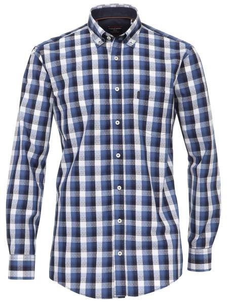 Freizeithemd Extra langer Arm 69 cm, Casa Moda Comfort fit,Kariert Blau