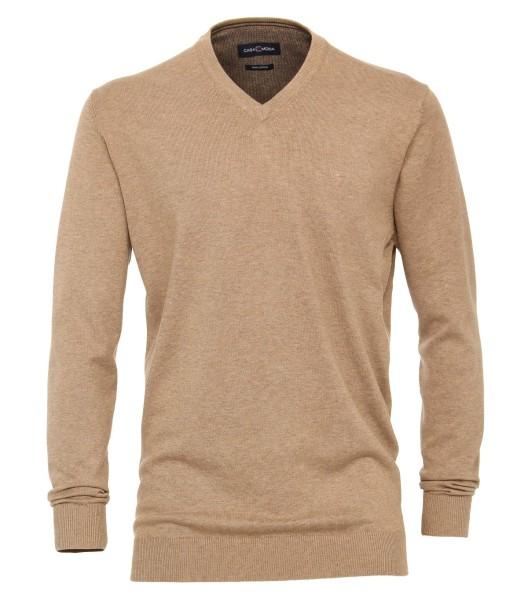 Casa Moda Pullover V-Ausschnitt Beige EXTRALANG
