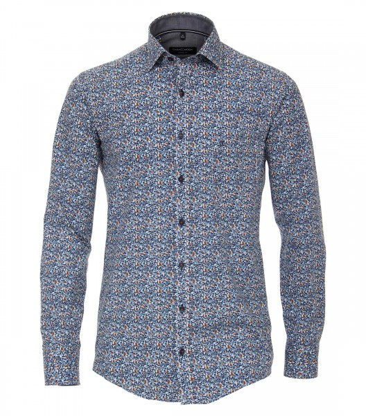 Freizeithemd, Extra langer Arm 72 cm, Casa Moda Casual Fit, Gemustert Blau