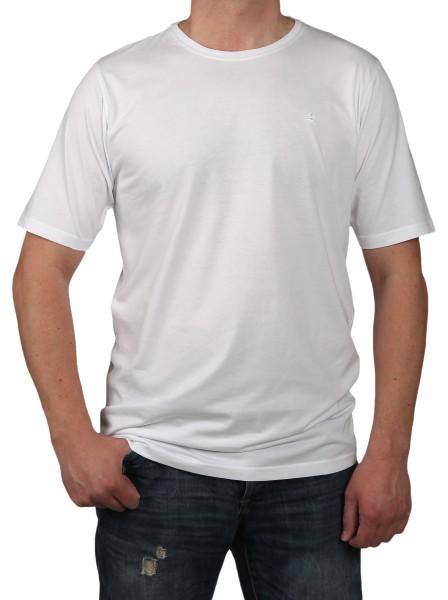 T-Shirt Rundhals KITARO Weiß -- EXTRALANG