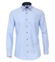 Hemden Extra Langer Arm 72 cm, Venti Modern Fit, Gemustert Hellblau