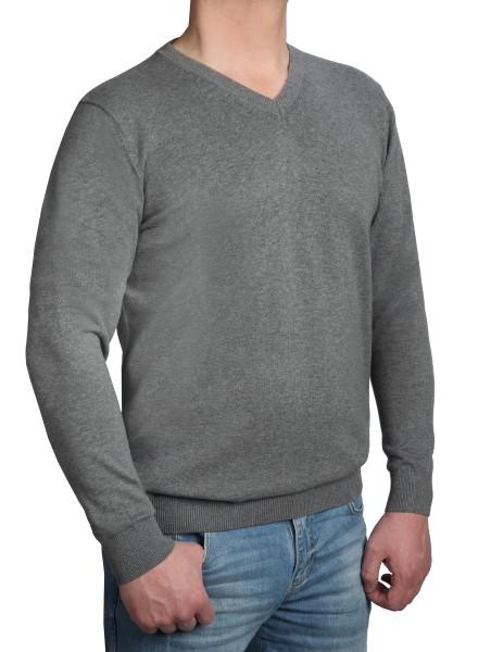 Extra langer Pullover, K I T A R O-V-Ausschnitt, Grau