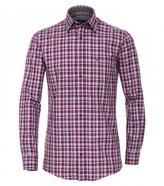Freizeithemd, Extra langer Arm 72 cm, Casa Moda Comfort Fit Fit, Kariert