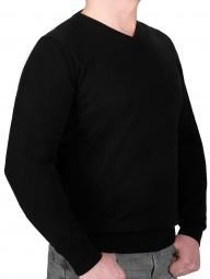 K I T A R O Pullover V-Ausschnitt Schwarz in EXTRALANG