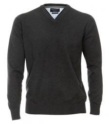 Casa Moda Pullover V-Ausschnitt Anthrazit EXTRALANG