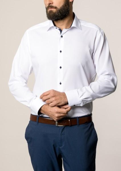 Hemden Extra langer Arm 68 cm, Eterna modern fit, modisch Weiß