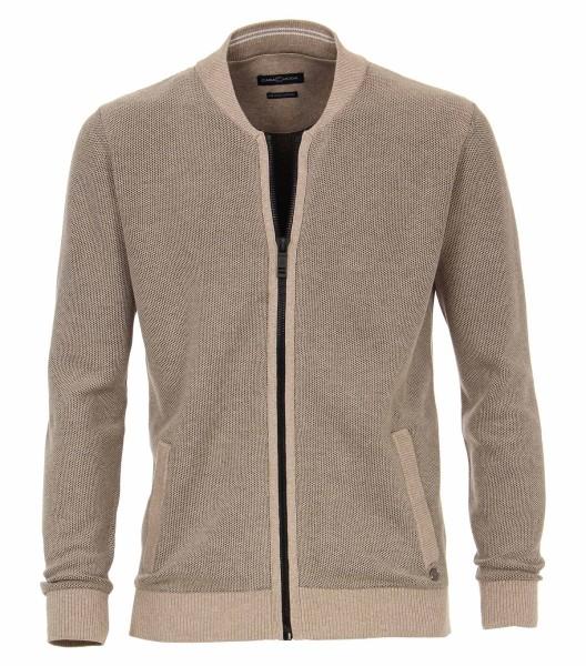 Casa Moda Strick-Jacke in Beige, EXTRALANG, Rumpf und Ärmel