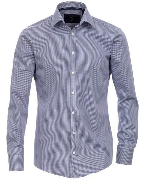 Hemden Extra langer Arm, 72 cm, Venti Slim Fit, Kariert Blau/Weiß