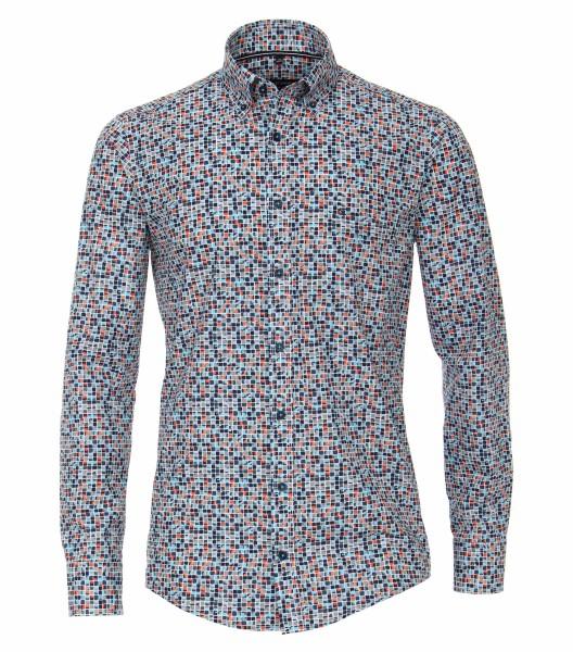 Freizeithemd, Extra langer Arm 72 cm, Casa Moda Casual Fit, Gemustert