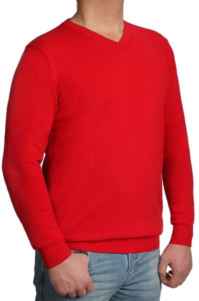 Extra langer Pullover, K I T A R O-V-Ausschnitt, Rot