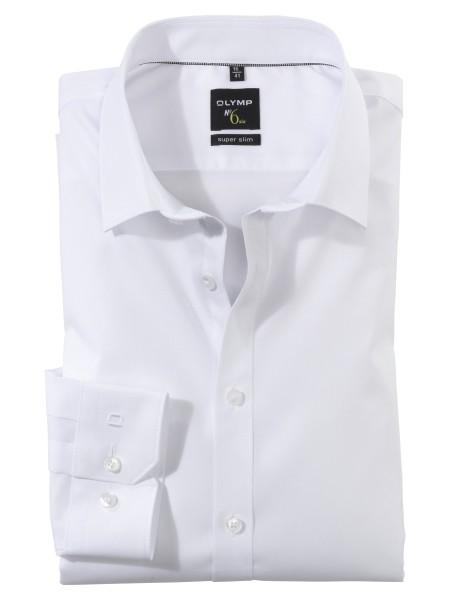 OLYMP Extra Langer Arm 69 cm, Hemd EL, No. Six super slim, Weiß