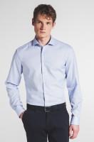 Extra langer Arm 72 cm, Hemd Eterna Slim Fit, Gemustert Hellblau