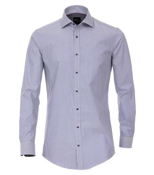 Hemden Extra langer Arm 72 cm, Venti body fit, Streifen Blau
