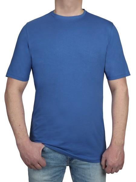 T-Shirt KITARO Rundhals Jeans Blau- Extra Lang