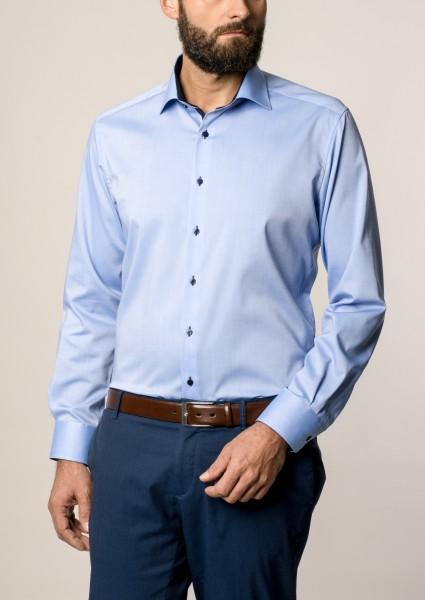 Hemden Extra langer Arm 68 cm, E T E R N A Modern Fit, modisch Blau