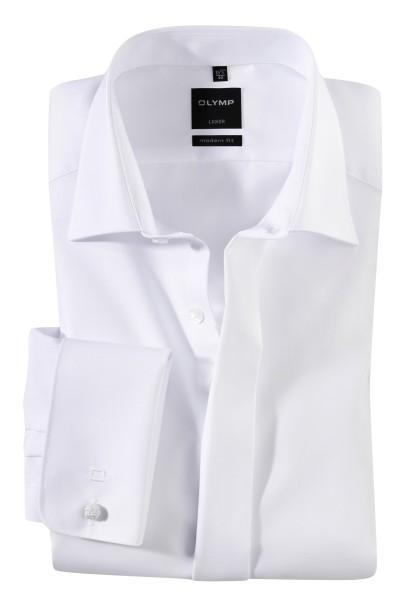 OLYMP Extra langer Arm 70 cm, Hemden Luxor modern fit, Umschlagmanschetten, Weiss