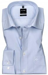 Hemd OLYMP Luxor modern fit Streifen Hellblau/Weiß Extra langer Arm 69cm