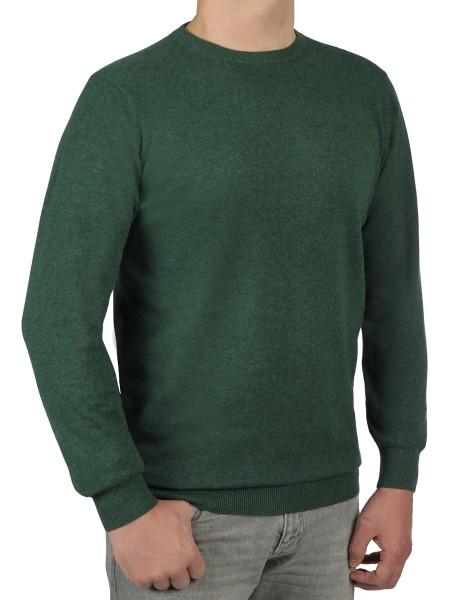 Extra langer Pullover Herren, K I T A R O-Rundhals, in Grün