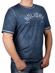T-Shirt KITARO Blau-- EXTRALANG