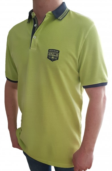 Poloshirt KITARO Lindengrün -in EXTRA LANG
