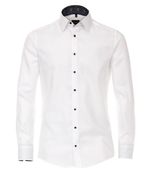 Extra langer Arm 72 cm, Hemd Venti Modern Fit, Struktur Weiß