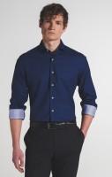 Extra langer Arm 72 cm, Hemd Eterna Slim Fit, Gemustert Blau