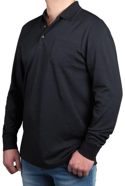 Poloshirt in extra lang, K I T A R O Grau