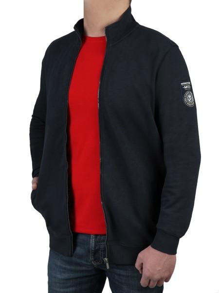Sweat-Jacke in Marine von Kitaro- Extra Lang