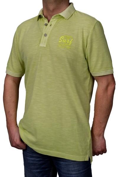 KITARO Poloshirt in extra lang in uni