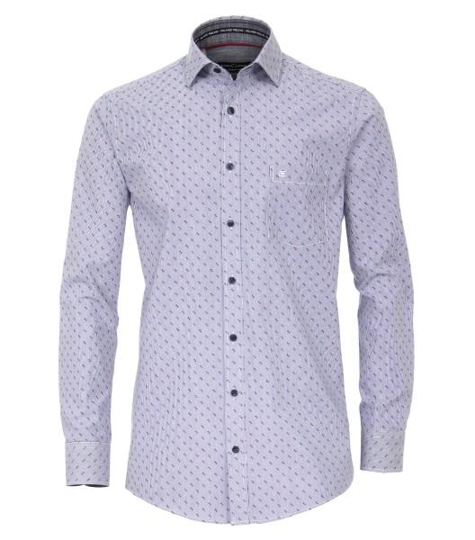 Freizeithemden Extra langer Arm 72 cm, Casa Moda Comfort Fit, Gemustert Blau