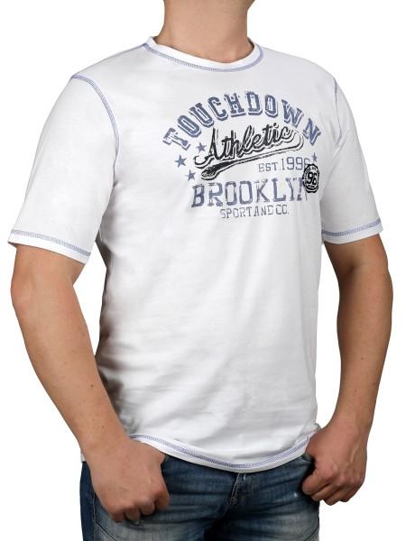 T-Shirt KITARO Weiß-- extra lang
