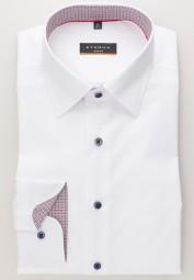 Hemd eterna Slim fit modisch Weiß Extra langer Arm 72cm