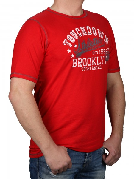 T-Shirt KITARO Rot-- extra lang