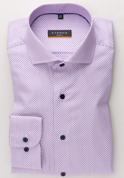 Hemden Extra langer Arm 72 cm, E T E R N A Slim Fit, Gemustert