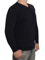Extra langer Pullover, K I T A R O-V-Ausschnitt, in Marine