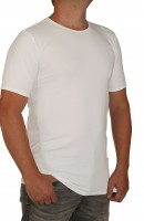 K I T A R O- T-Shirt (stretch ) Kurzarm - Rundhals Weiss-- extra lang MT