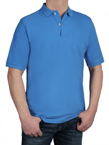 Poloshirt KITARO Jeans Blau - EXTRALANG