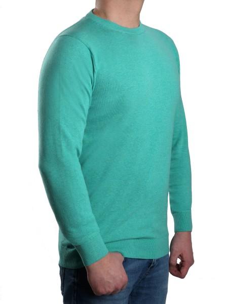 Extra langer Pullover Herren, K I T A R O-Rundhals, in Mint