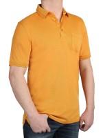 Herren Poloshirt KITARO Ocker - Extra Lang