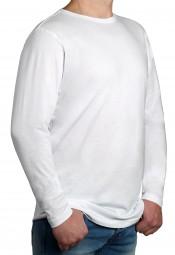 T-Shirt Langarm K I T A R O Rundhals Weiß-- EXTRALANG